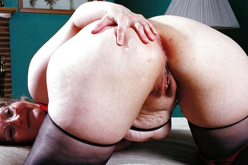 Huge dark-hued bootie grandmother..