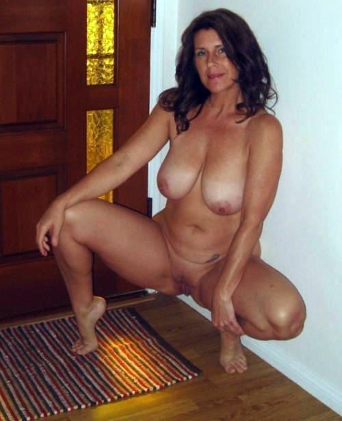 Chesty housewives working totally nude..