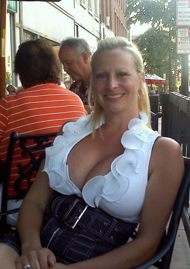 Lovely towheaded mature female bares..