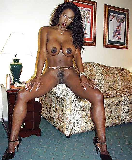 Huge-titted black housewife with the..