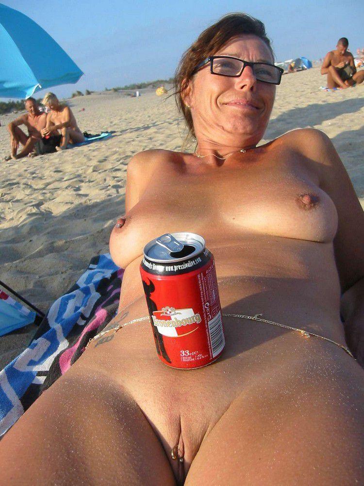 Bare Moms on the beach