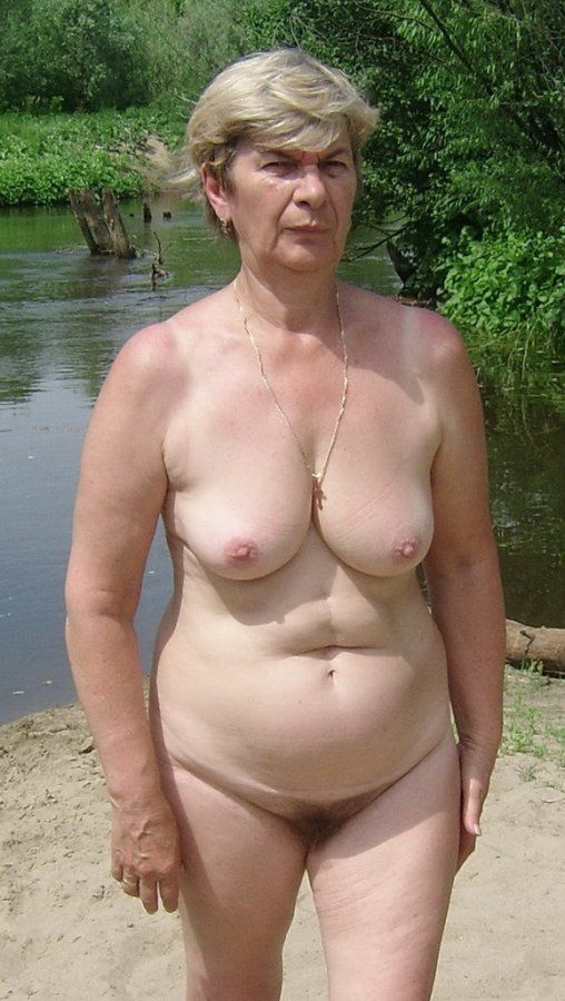 Curly grannie on the nature , outdoor