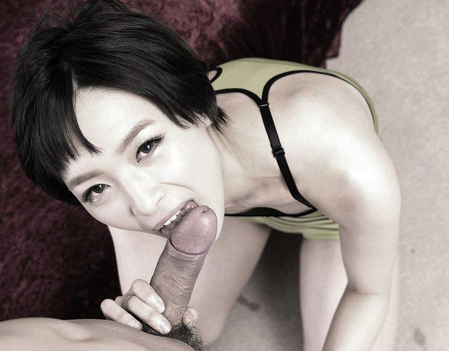 Steaming mummy Mari Haneda does..