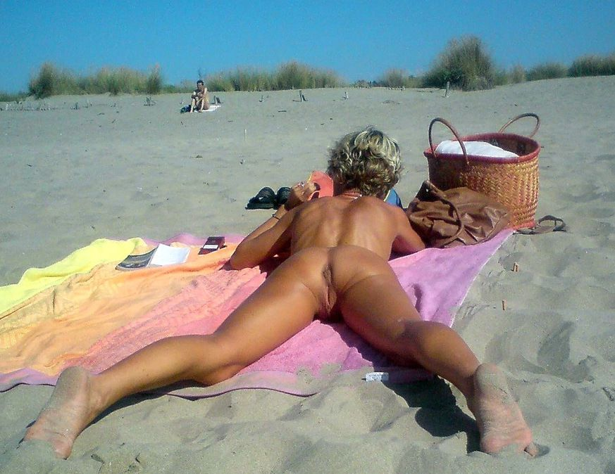 Bare gals with gams broad apart,..