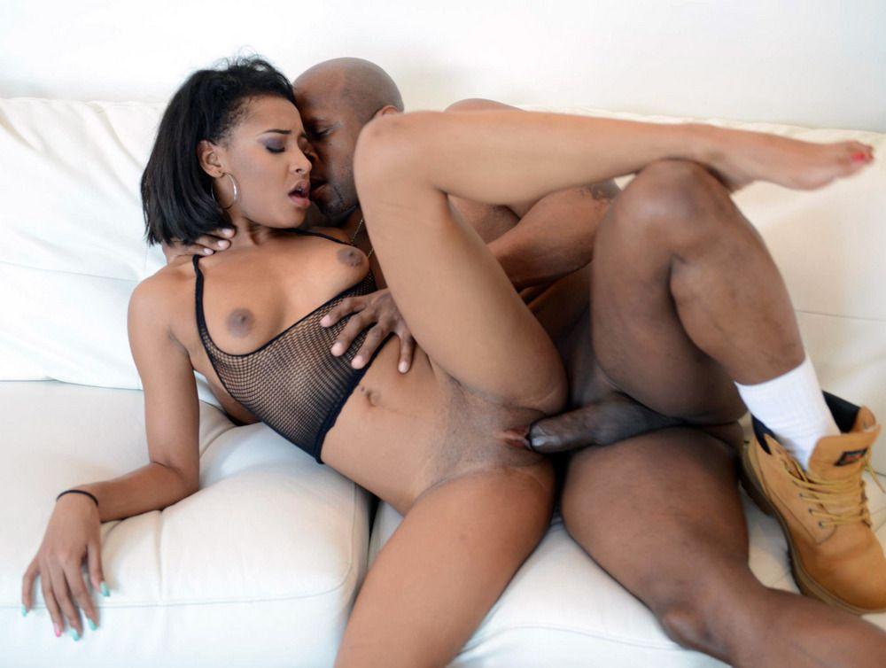 Ebony plower put his Big ebony cock..