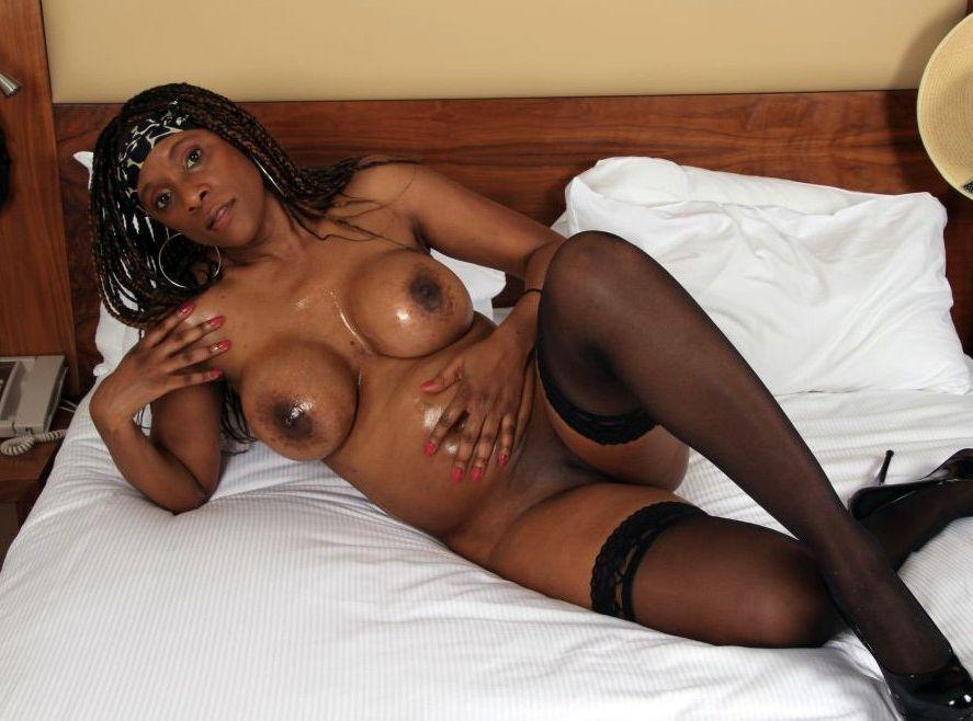 African Mummy April caressing her..