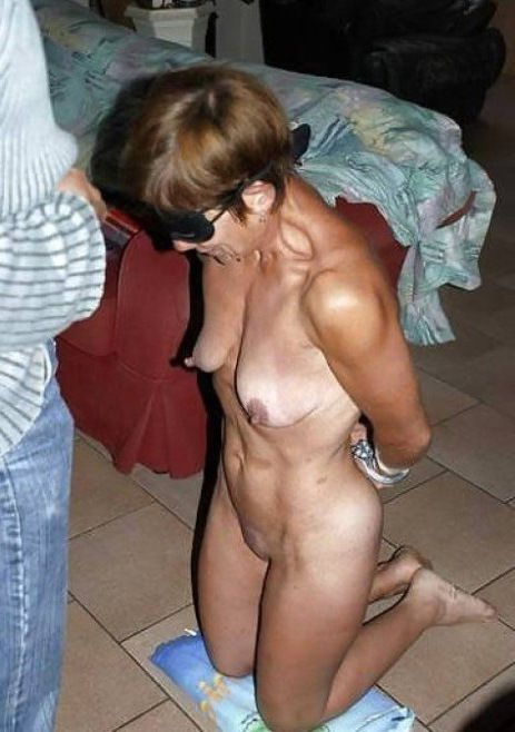 Harsh mature restrain bondage..