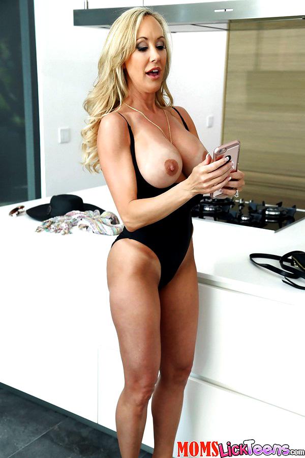 Platinum-blonde mommy Brandi..