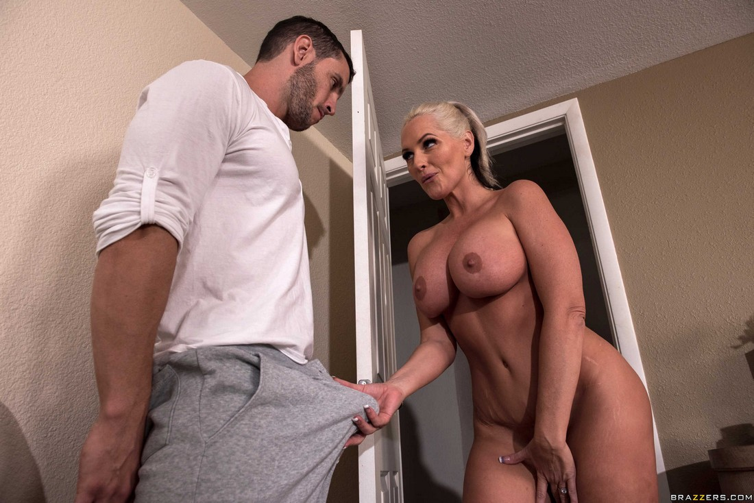 Big-chested mother Alena always says yes